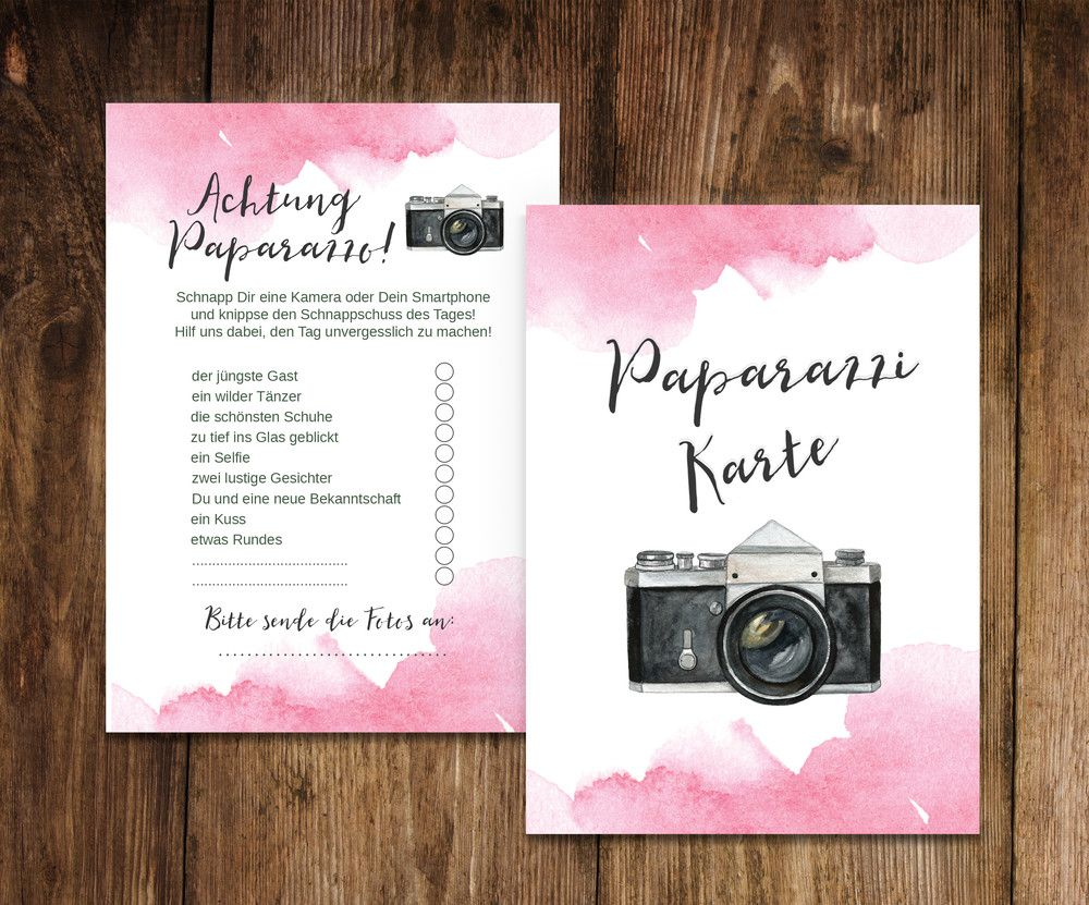 "50 Photo Cards Wedding ""Watercolor Wedding"" Photo Game Wedding"