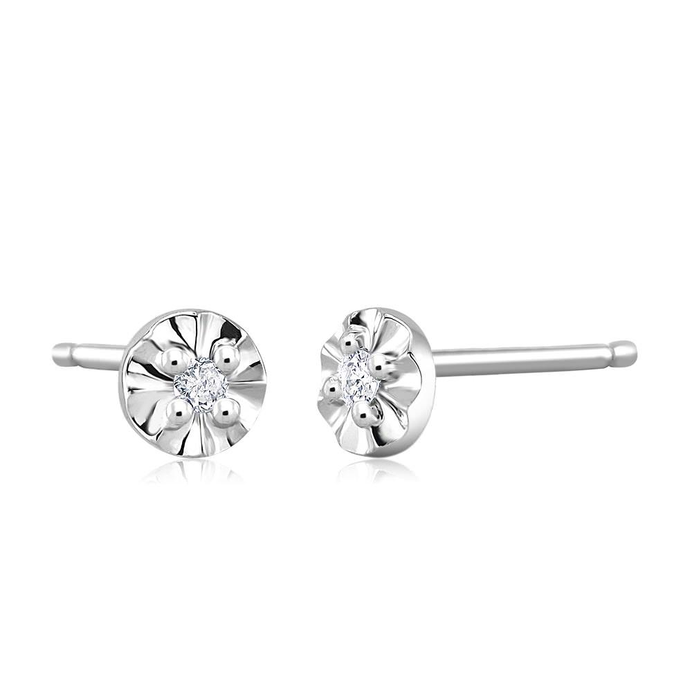 8e36c4b98 18k Yellow Gold Bezelset Round Diamond SINGLE STUD Earring 18 ct HI I2I3 *  See this great product.-It is an affiliate link to Amazo…
