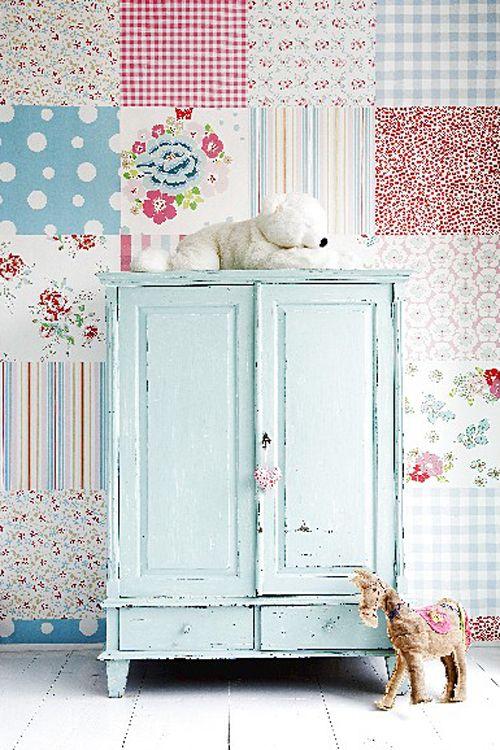 Pastel Pretty Interior Inspiration from Room Seven. Scrapbook PaperScrapbookingPainted FurnitureRustic ...
