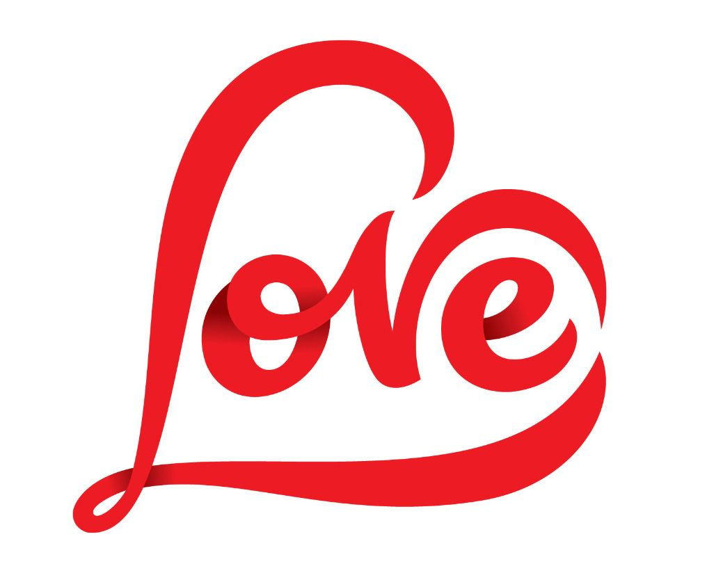 love rob clarke typography logo logotype