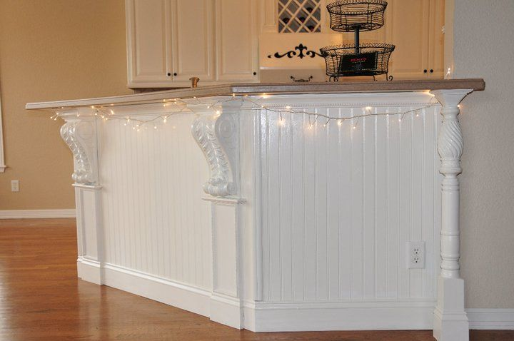 Converting a plain counter to a faux kitchen island