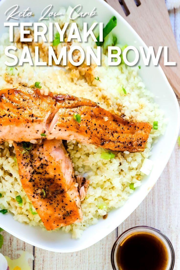 Photo of Teriyaki Salmon Bowl with Cauliflower Rice #teriyakisalmon Teriyaki Salmon Bowl …