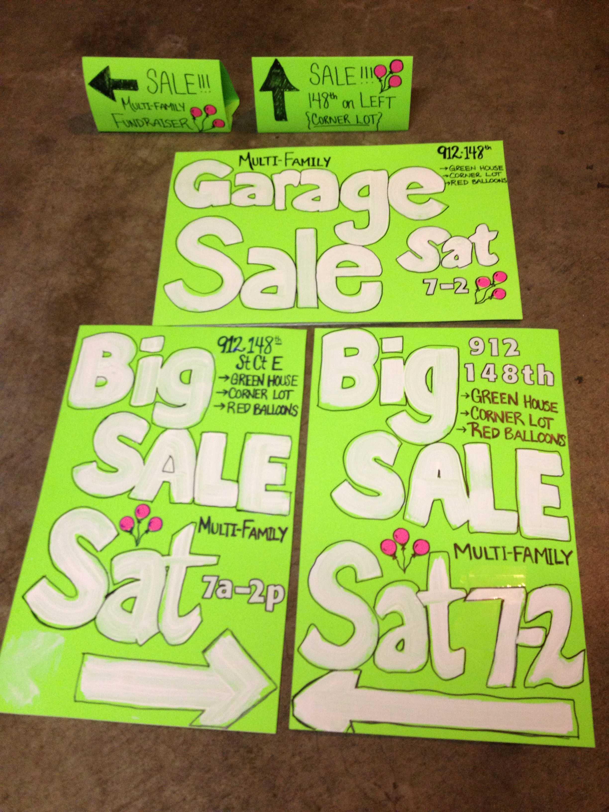 scrapbook bright sale stickers advertising by our roadside pinterest on yard clean signs for pin garage organize jess
