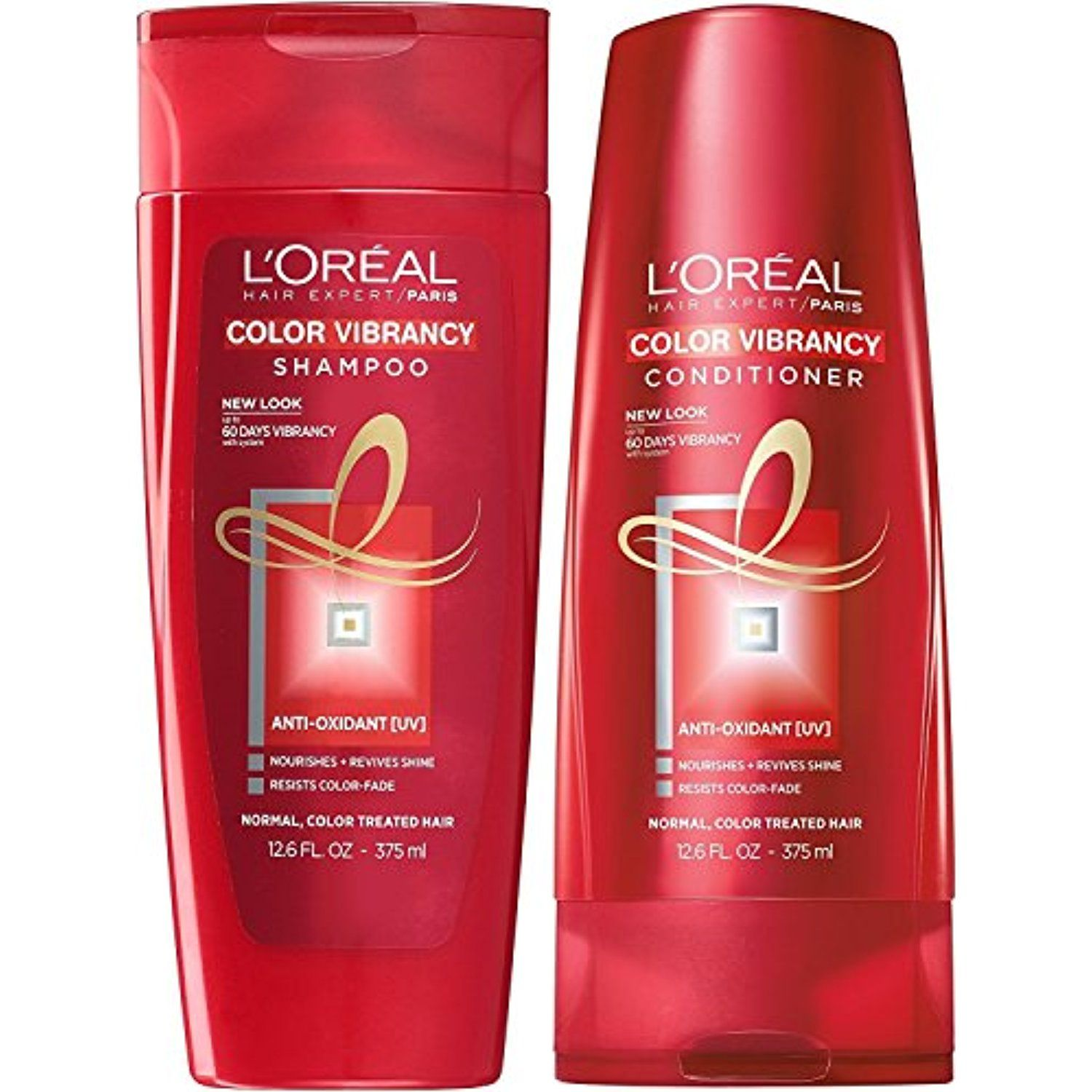 L\'Oreal Paris Color Vibrancy Shampoo and Conditioner 12.6 Ounce Each ...