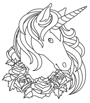 Shadow Unicorn Design UTH6585 From UrbanThreads Coloring PagesRainbow