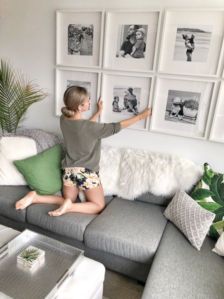 How to create a grid-style gallery wall of family photos! • This Mama Loves Life
