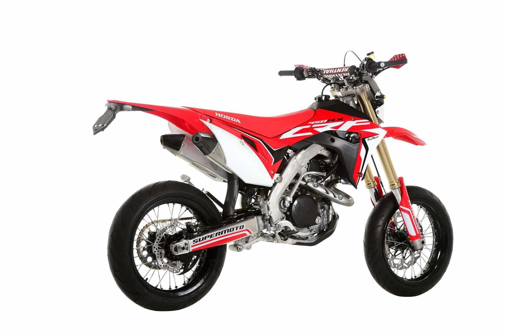 2017 honda crf450r supermoto motard bike motorcycle