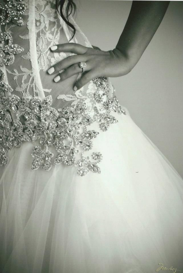 Swarovski Crystal Lace Wedding Dress