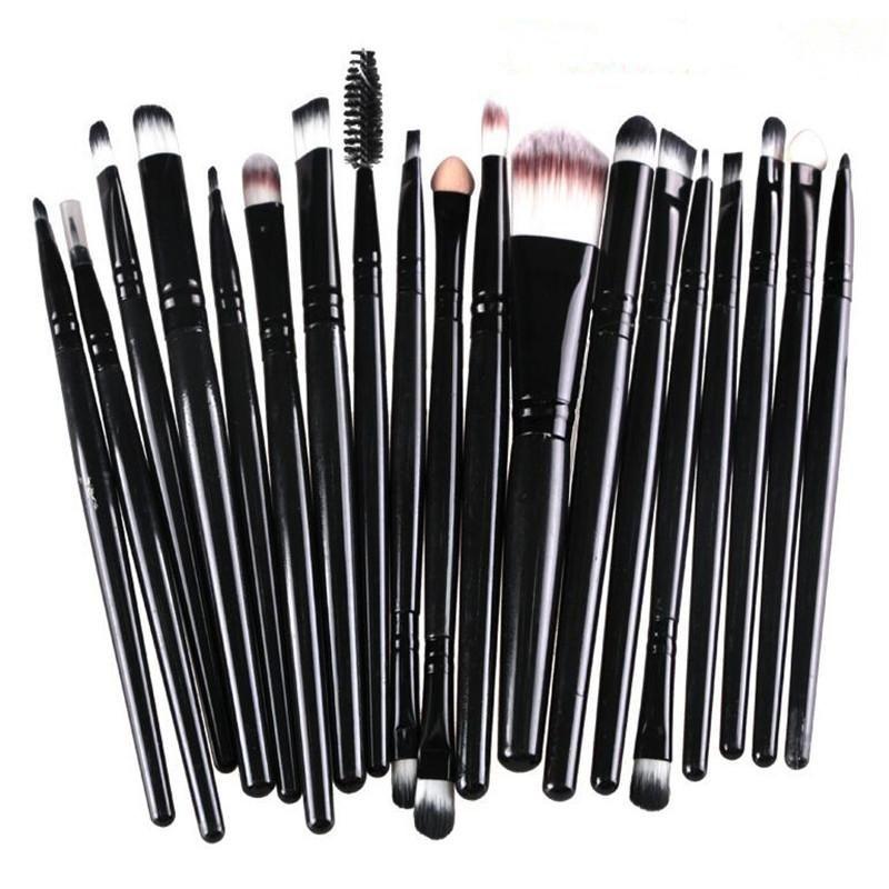 Photo of Pro 20 pcs Cosmetic Make Up Eye Brush Set – Black/Black