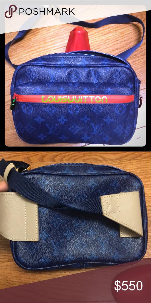 11c3e5b95e7a Louiss Vuitton Belt Bag Louis Vuitton belt bag in blue and red 2018 Louis  Vuitton Bags Crossbody Bags