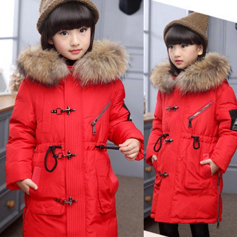 363e1c6aad86 Winter Boy Long Duck Fur Collar Down Jacket Children Hooded ...