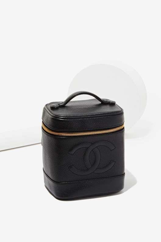 bbfdb973e765 Vintage Chanel Black Caviar Vanity Case | Lipstick and Pumps ...