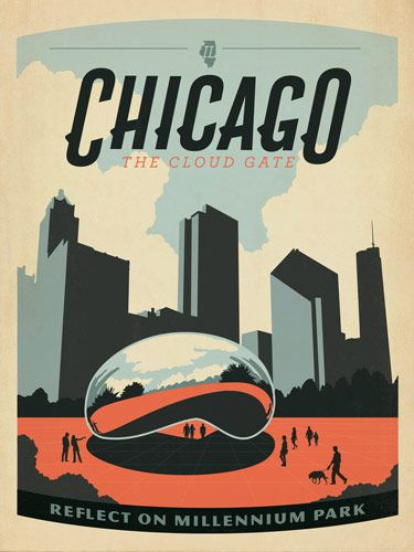 Explore Chicago Poster, Chicago Illinois, and more! Mid-Century ...