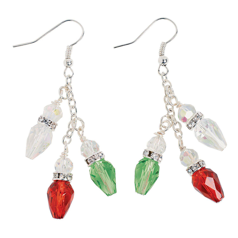 christmas light bulb earring kit orientaltradingcom
