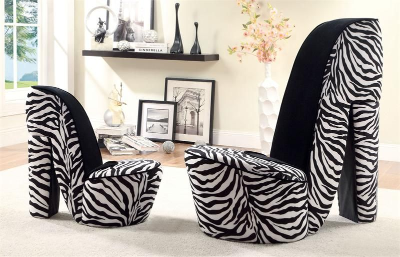1000  images about Zebra Print High Heel Chair on Pinterest ...