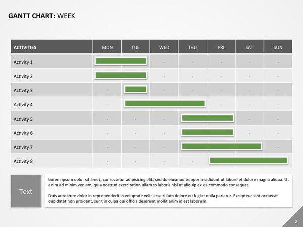 Gantt Chart For Powerpoint  Powerpoint Templates
