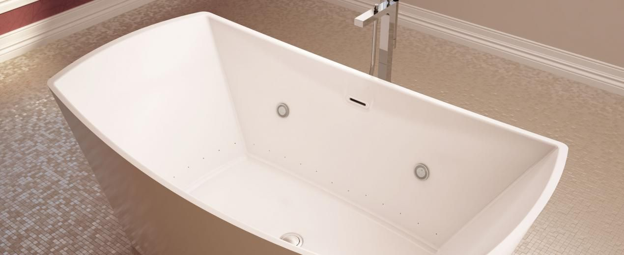 Bainultra Evanescence 6634 Two Person Freestanding Air Jet Bathtub For Your Master Bathroom