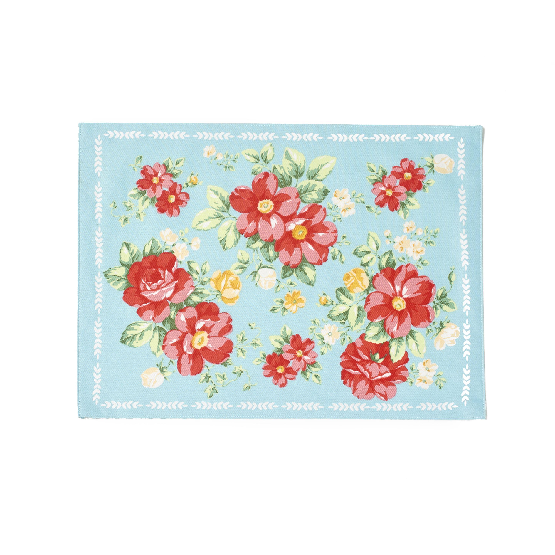 The Pioneer Woman Vintage Floral Reversible Placemat Walmart Com Vintage Floral Pioneer Woman Vintage Ladies