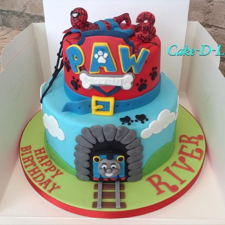 Marvelous Mixed Characters Cake By Cake D Licious Cake Character Cakes Funny Birthday Cards Online Hetedamsfinfo