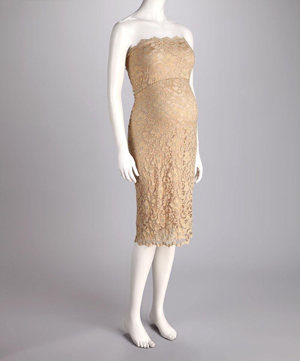 Nicole gold lace maternity strapless dress pretty maternity dress take a look at this nicole gold lace maternity strapless dress plus by holiday affair maternity apparel on today ombrellifo Choice Image