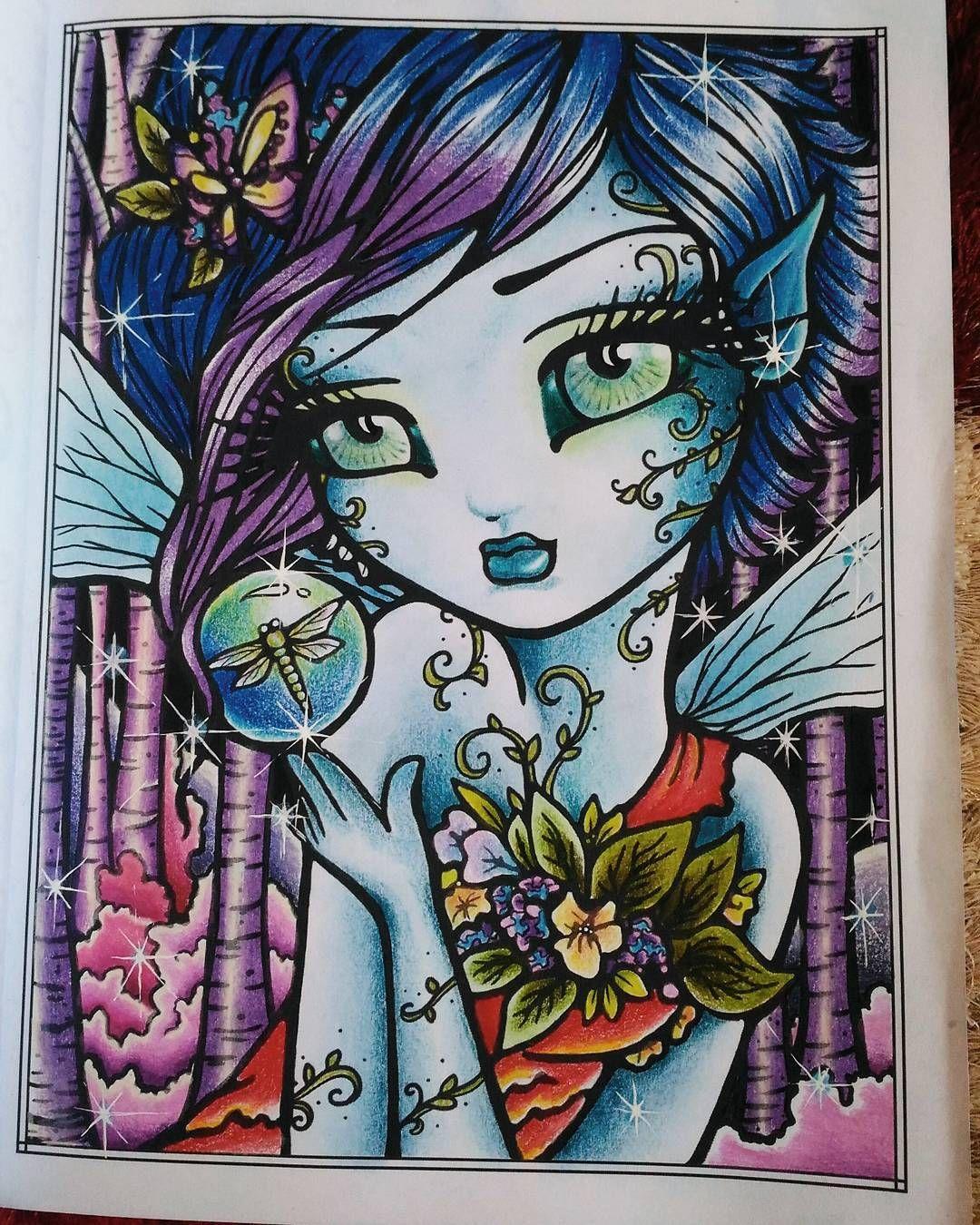 Instagram Photo By Kazuhiko Azmi Mar 27 2016 At 4 31am Utc Faery Art Hannah Lynn Coloring Books