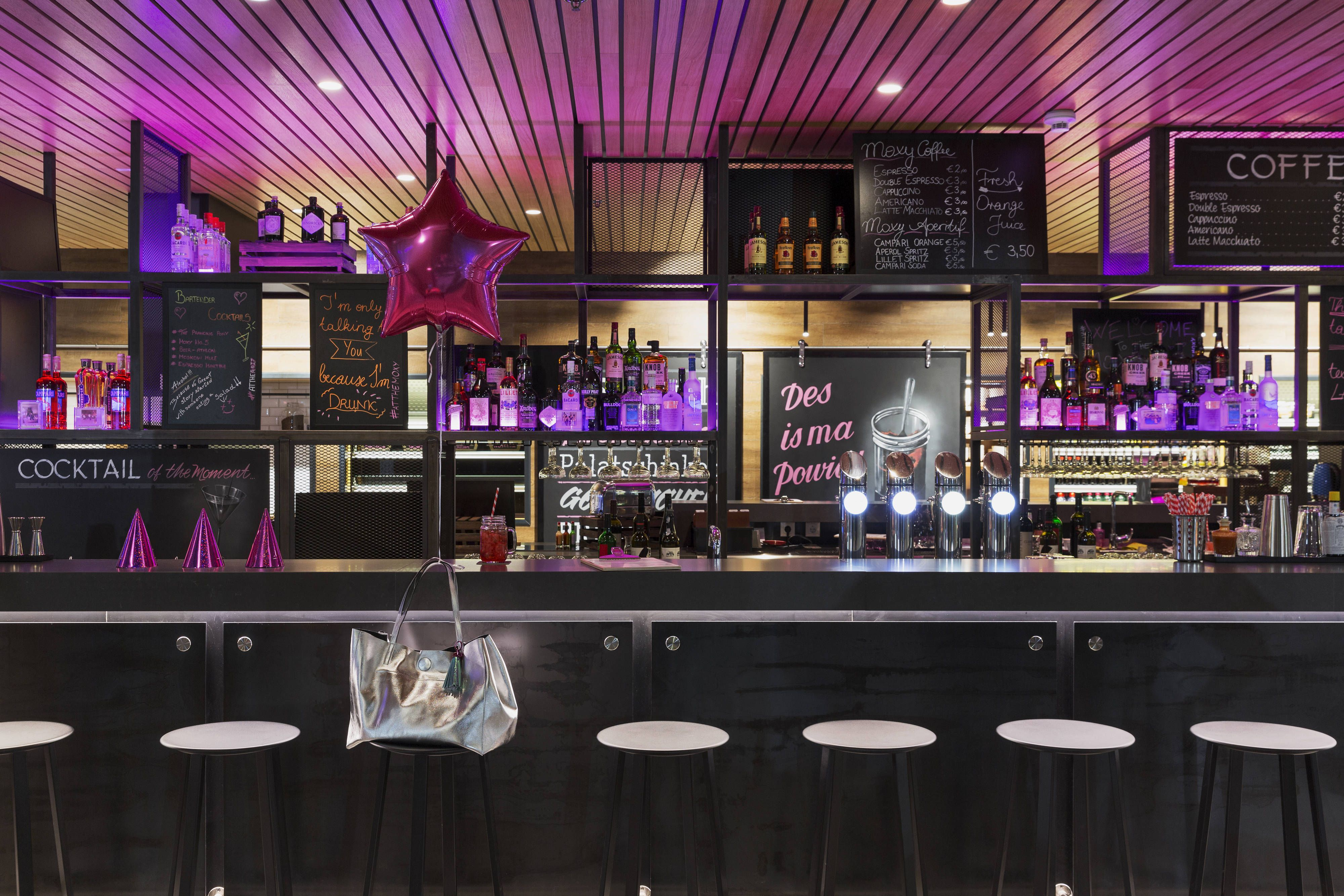 Moxy vienna airport the now moxy bar travel guestroom