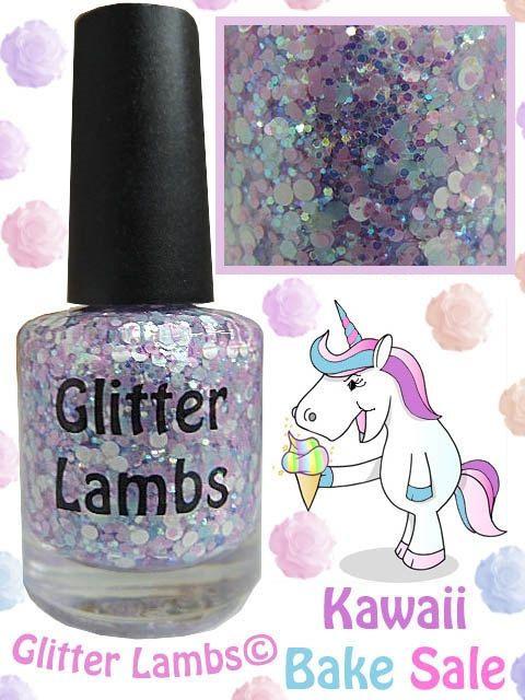 Kawaii Bake Sale: Glitter Nail Polish Lacquer- Indie Nail Polish ...