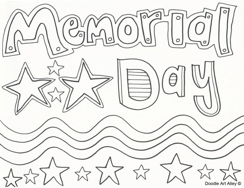 Memorial Day Coloring Pages Memorial Day Coloring Pages