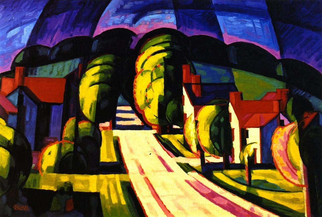 "/""Old Canal Port/"" — Giclee Fine Art Print Oscar Florianus Bluemner 1914"