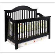 DaVinci Jayden 4-in-1 Convertible Crib with Toddler Rail, Ebony