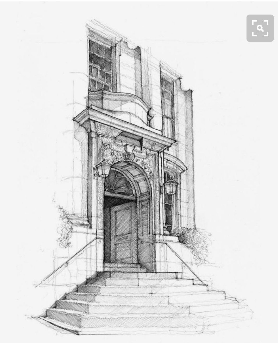 Pin von Maigon Pontuschka auf Architecture in pencil | Pinterest ...