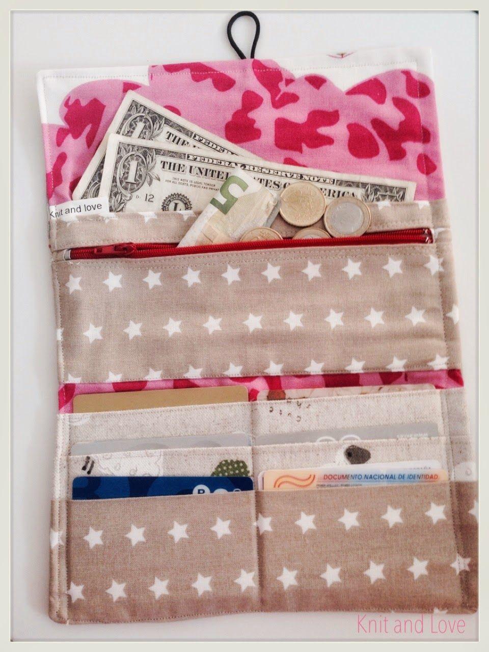 C mo hacer un monedero de tela costura f cil linen wallet - Como hacer cuadros de tela ...