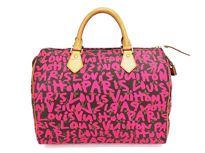 629f3a98886 Louis Vuitton-Graffiti Speedy 30 Monogram bowling tas-Stephen  Sprouse-Collector's tas Naam