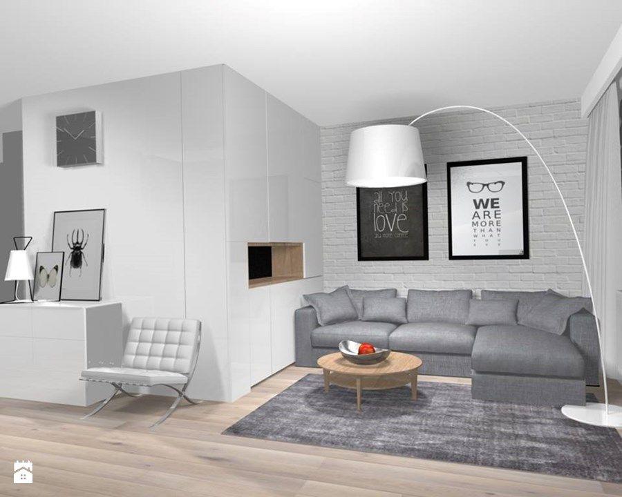 Projekt metamorfozy 43 metrowego mieszkania w bloku z
