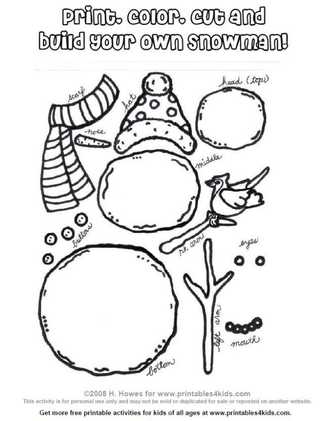 Printable Build a Snowman Activity : Printables for Kids