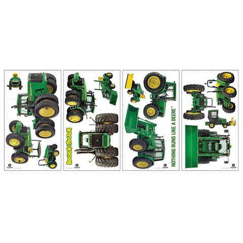 john deere tractor removable wall decals – greentoys4u | john