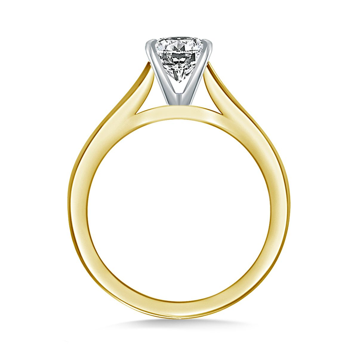 cathedral jewelry v cut rings engagement round prong in set duple ring diamond white nl wg gold solitaire wedding