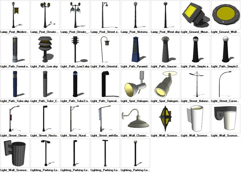 Sketchup Lighting Exterior 3D models download – CAD Design