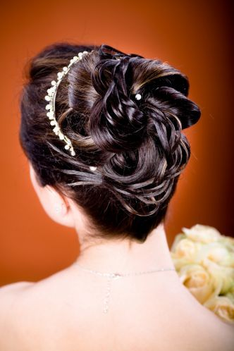 Picha ya hairstyles Bridal