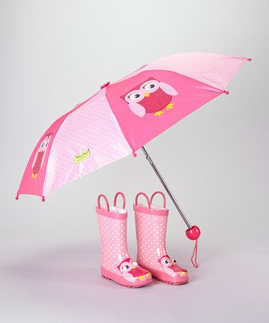 Take a look at this Pink Owl Rain Boot & Umbrella by Western Chief on #zulily today!