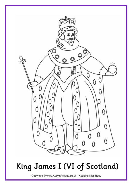 King James I Colouring Page 2 King James I Coloring Pages King