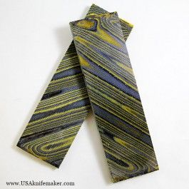"DewCarta - Black & Yellow - 1/4"" x 1 5/8"" x 5"" - Scales - 45 Degree Pattern"