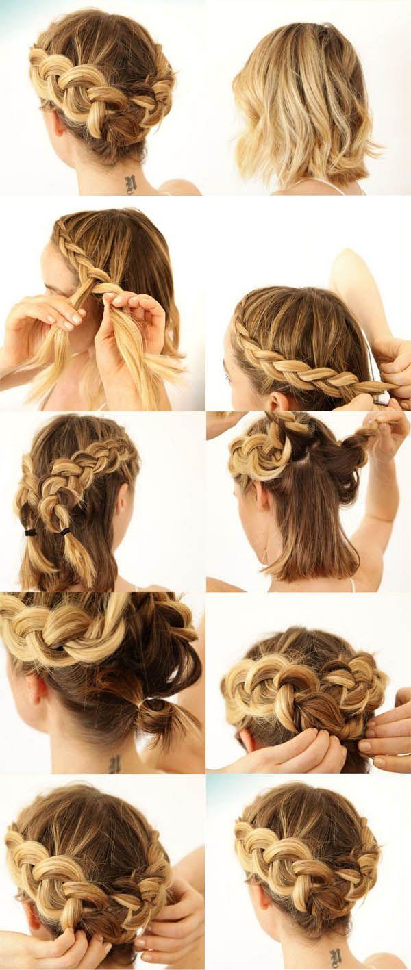 peinados para cabello corto tutoriales y lo mejor del hair