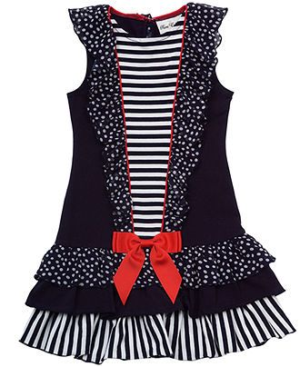 Rare Editions Kids Dress Little Girl Sailor Dress Kids