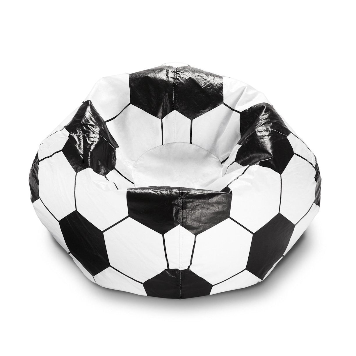 Ace Casual Vinyl 96 Inch Sports Bean Bag Chair Football Brown Soccer Bedroom Bean Bag Chair Soccer Room