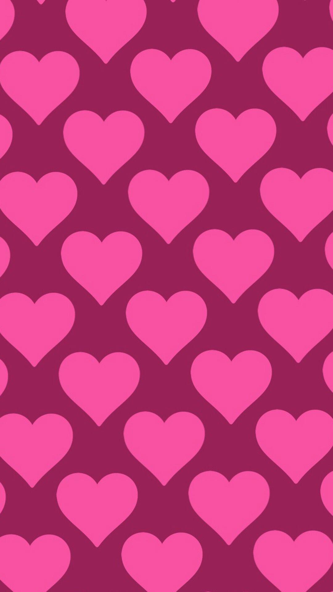 обои на телефон сердечко на розовом фоне выкройка