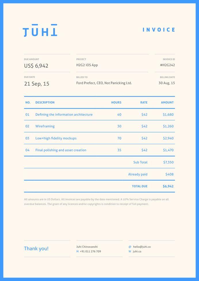 Receipt Invoice Invoice Design Invoice Layout Self Branding