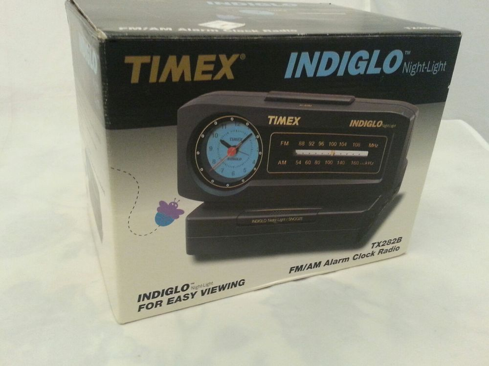 NEW OS Vintage Retro Timex Indiglo Night Light Alarm Clock Radio AM/FM  TX282B #