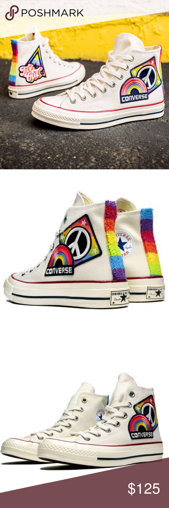 """14cfceb0ea2103 Converse Chuck Taylor All-Star  70 Hi """"Pride"""" shoe Proceeds from the Converse  Pride collection go to the It Gets Better Project and the Happy Hippie ..."""