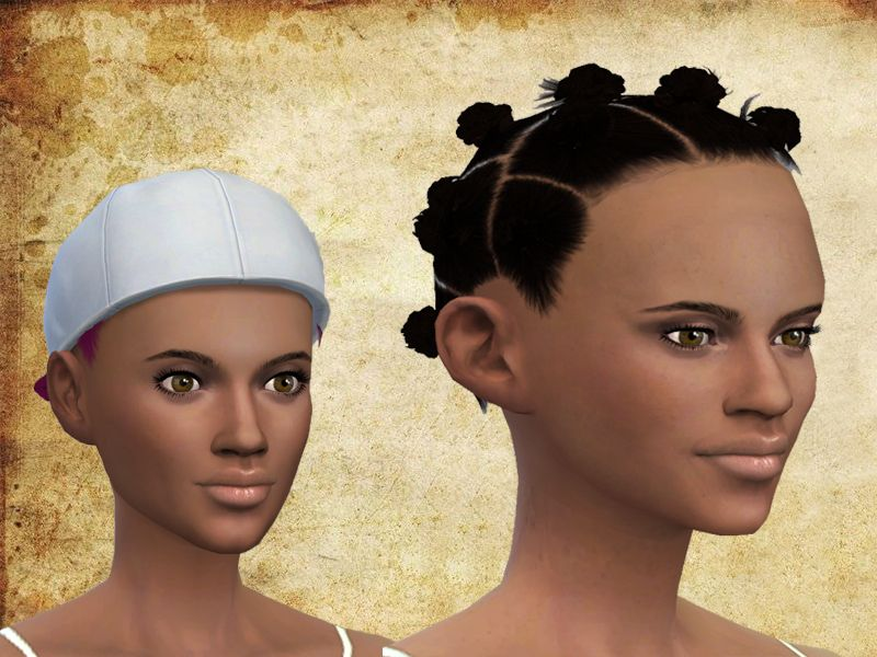 Afro Buns Hairstyle Found In Tsr Category Sims 4 Female Hairstyles